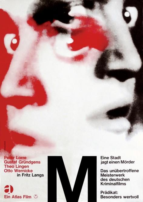 3.『M』(1931年/ドイツ/フリッツ・ラング監督) ポスター:ヴォルフガング・シュミット(1966年) ドイツ映画研究所所蔵 西
