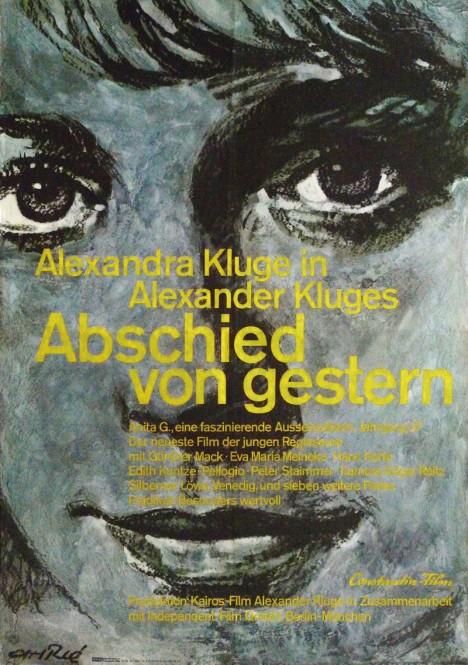 2.『昨日からの別れ』(1966年/西ドイツ/アレクサンダー・クルーゲ監督) ポスター:フェリー・アーレ(1966年) ドイツ映画研究所所蔵 西