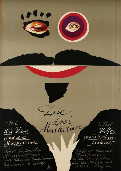 4.『三銃士』(1953年/フランス=イタリア/アンドレ・ユヌベル監督) ポスター:クリストフ・エーベッツ(1977年) サントリーホールディングス所蔵 東