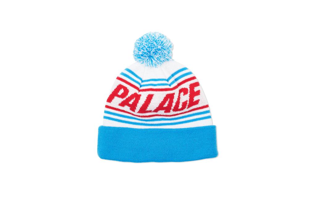 Palace drop 6 bobble hat wht blue 1024x717