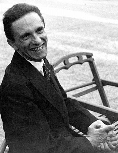 Goebbels laughing