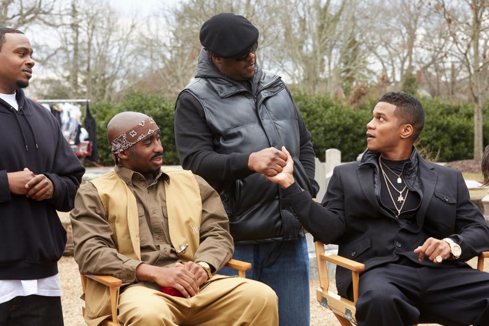Demetrius Shipp Jr., Jamal Woolard and Cory Hardrict star in ALL EYEZ ON ME Photo: Quantrell Colbert