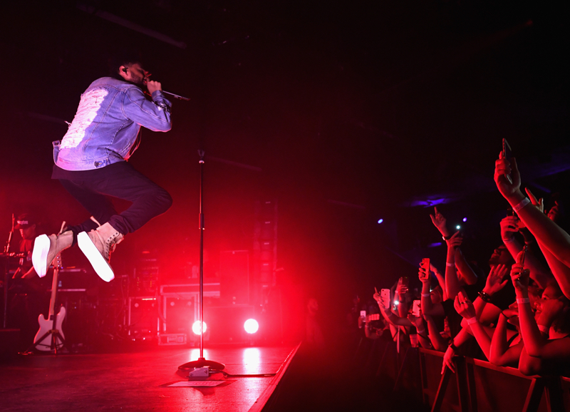 LAS VEGAS, NV - AUGUST 14:  The Weeknd performs during the PUMA x XO Launch Event featuring a performance by The Weeknd on August 14, 2017 in Las Vegas, Nevada.  (Photo by Denise Truscello/Getty Images  for PUMA)