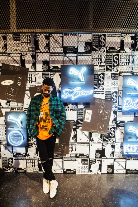 Big Sean at PUMA Booth