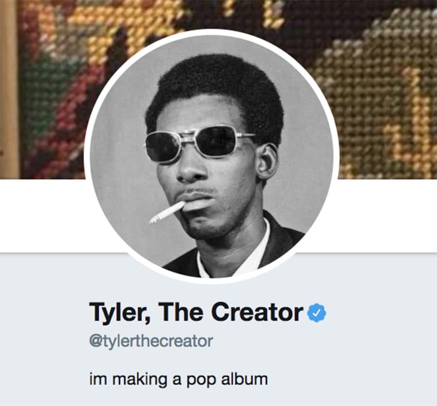 tyler-the-creator-twitter-bio-pop-album-tweet
